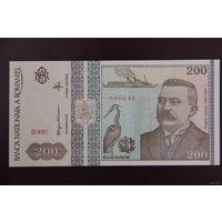 Румыния 200 лей 1992 UNC