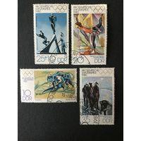 Зимние олимпийские игры. ГДР, 1980, серия 4 марки
