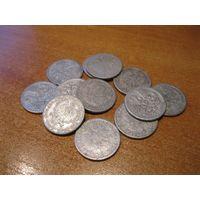 Лот из 12 монет номиналом по 2 злотых. Польская Народная Республика, 1958 год.
