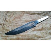 """Нож.Продам клинок шикарного авторского дамасска """"Перо"""""""