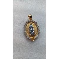 """Медальён """"Дева Мария"""" со стразами. распродажа"""
