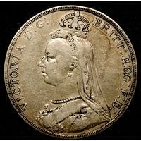 Великобритания крона 1890. 28.28гр серебро 0.925 с рубля