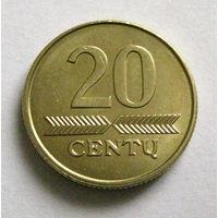 Литва 20 центов 2009