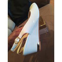 Босоножки туфли белые р.38