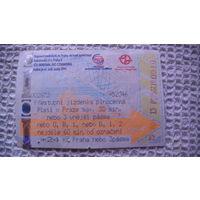 Чехия проездной билет 30 минут. 18.09:10 распродажа