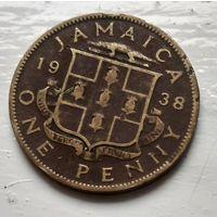 Ямайка 1 пенни, 1938  2-9-13