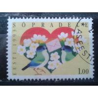 Эстония 1993 Поздравительная марка, Валентинов день