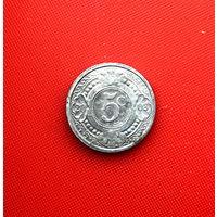 54-22 Антильские острова, 5 центов 2003 г. Единственное предложение монеты данного года на АУ