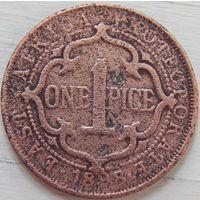 9. Британская Восточная Африка протекторат 1 пайсе 1898 г.