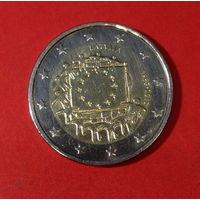 Юбилейные 2 евро Латвия, 2015г., евросоюз
