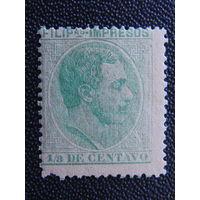 Испанская колония Филиппины 1887 г. Король Альфонс XII.
