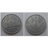 1 франк Франция 1943 год, KM# 902.1 FRANC, из мешка