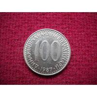 100 динаров 1987 г.