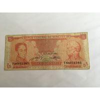 Венесуэла 5 боливар 1989 года VF