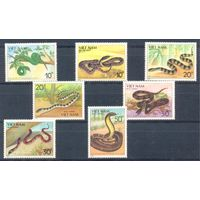 Вьетнам 1989 Фауна. Змеи, 7 марок