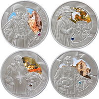 Набор серебряных монет ''Три Мушкетера'' 2009