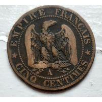 Франция 5 сантимов, 1855 A - Париж 2-6-5