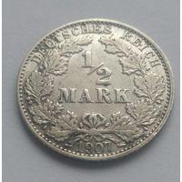 Германия 1/2 марки, 1907 год
