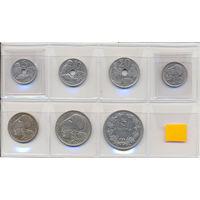 Греция комплект монет (7 шт.) 1912-1930гг. Скидки.