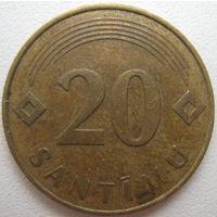 Латвия 20 сантимов 1992 г.
