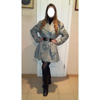 Натуральное кожаное пальто с каракулем Prens