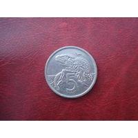 5 центов 1995 год Новая Зеландия