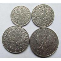Польша 10,20,30 грош 1923 1 злотый 1929
