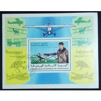 Мавритания 1977. Блок. История авиации.