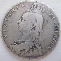 25. Британия пол кроны 1889 год Виктория*