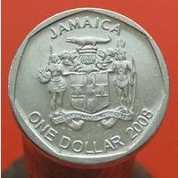 1 доллар 2008 ЯМАЙКА - 1 ый тип Круг