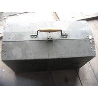 Рыболовный ящик большой 50х28 см. с ячейками легкий-аллюминий торг обмен