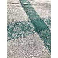 Скатерть бело-зеленая 142х190 см