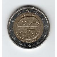 2 евро Нидерланды 2009, 10 лет ведения евро