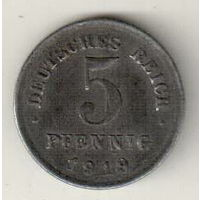 Германия 5 пфенниг 1919