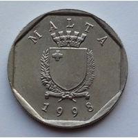 Мальта 5 центов. 1998
