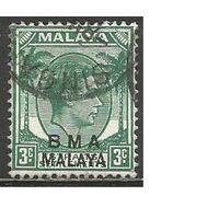 Малайя(Британская военная администрация). Король ГеоргVI. Пальмы. 1945г. Mi#3.