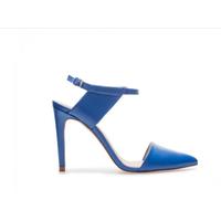 Zara кожаные синие босоножки, размер 35 (размер Zara 36). Можно примерить на узкую ногу 36 размера.