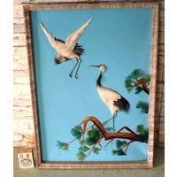 Картина ручной работы из перьев. Северная Корея, 90 гг прошлого столетия