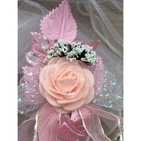 Бутоньерка для подружек невесты, гостей на свадьбу
