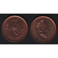Канада _km289 1 цент 2000 год (-) (f32)