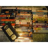 Видеокассеты оптом, 38 штук.