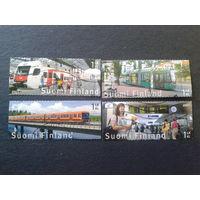 Финляндия 2007 жел. дор. городской транспорт в Хельсинки полная серия марки из буклета Mi-5,6 евро