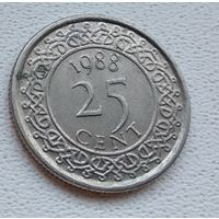 Суринам 25 центов, 1988 6-11-36