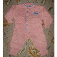Костюмчик (кофточка, штанишки, шапочка), на 1-1,5 года