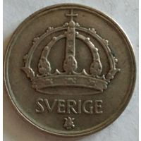 Швеция 50 эре 1948 серебро