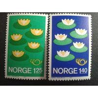 Норвегия 1977 NORDEN цветы полная серия
