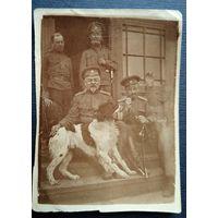 Фото царских офицеров. 1915 г. 4.5х6 см.