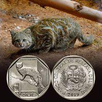 Перу 1 соль 2019 Андский горный кот UNC