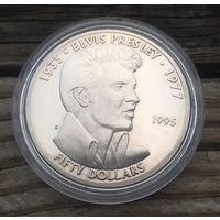 Маршаловы острова, 50 долларов, 1995, Элвис Пресли, серебро, пруф