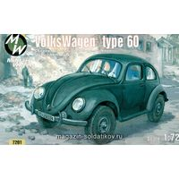 VolksWagen VW type 60, сборная модель 1/72 Military Wheels 7201